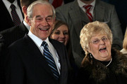 Republican presidential candidate, U.S. Rep. Ron Paul (R-TX) (L) and his wife Carol Paul laugh during a rally on the night of the Iowa caucus at the Courtyard Des Moines Ankeny on January 3, 2012 in Ankeny, Iowa. According to early results U.S. Rep. Ron Paul (R-TX) came in third in the Iowa GOP caucus behind former Massachusetts Gov. Mitt Romney and former U.S. Sen. Rick Santorum, who were neck and neck.