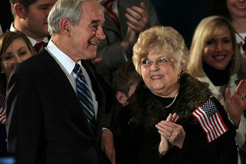 Carol Paul Ron Paul And Supporters Attend Iowa Caucus Night Event