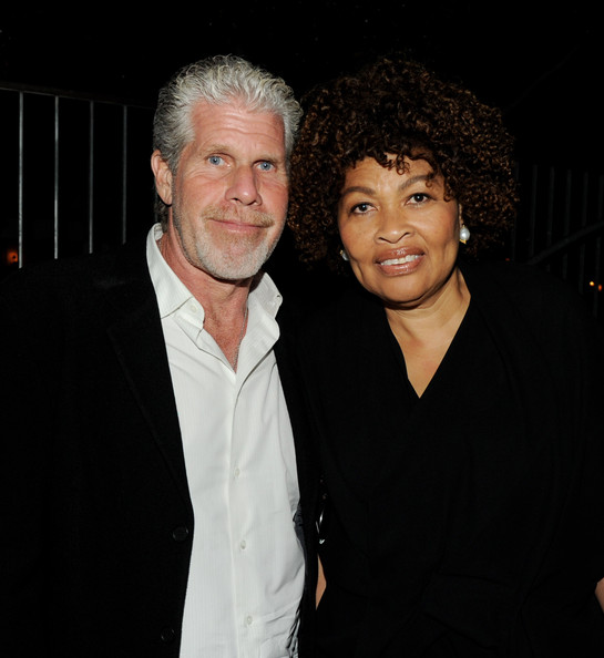 Ron Perlman with beautiful, sexy, cute, Wife Opal Perlman
