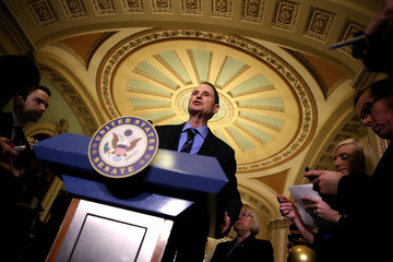 Ron Wyden Senate Lawmakers Address the Media After Their Weekly Party Luncheons