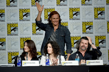Ronald D. Moore Caitriona Balfe The Starz: 'Outlander' Panel at Comic-Con International 2015