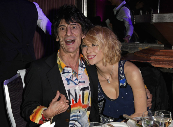 Classic Rock Roll Of Honour - Show [event,fun,party,girl,product,nightclub,smile,drink,ronnie wood,ekaterina ivanova,england,london,park lane hotel,rolling stones,classic rock roll of honour,show]