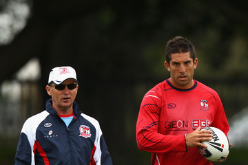 Braith Anasta Brian Smith Roosters Training Session