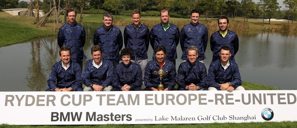 BMW Masters - Previews [bmw masters - previews,team,social group,community,team sport,sports,crew,photo caption,uniform,members,nicolas colsaerts,back row,front row,england,europe,northern ireland,scotland,ryder cup]