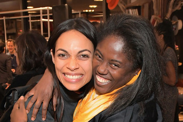 Rosario Dawson Abrima Erwiah NEVEREVEN Launch at Fred Segal Sunset