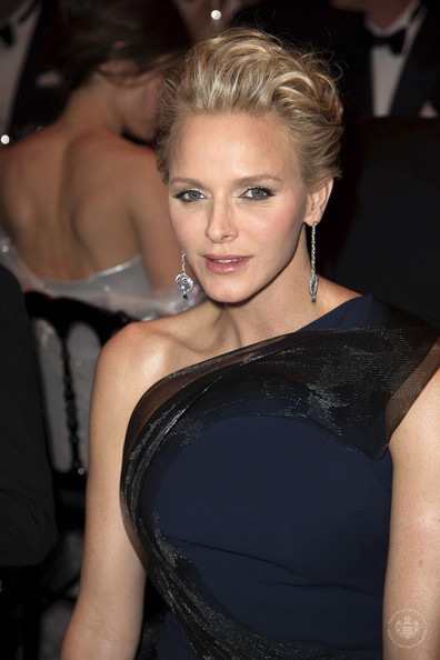 (VOICI, CLOSER, FRANCE DIMANCHE, ICI PARIS, ENTREVUE & PUBLIC OUT FOR FRANCE) (TABLOID OUT) Princess Charlene of Monaco attends the Rose Ball 2014 in aid of the Princess Grace Foundation at Sporting Monte-Carlo on March 29, 2014 in Monte-Carlo, Monaco.