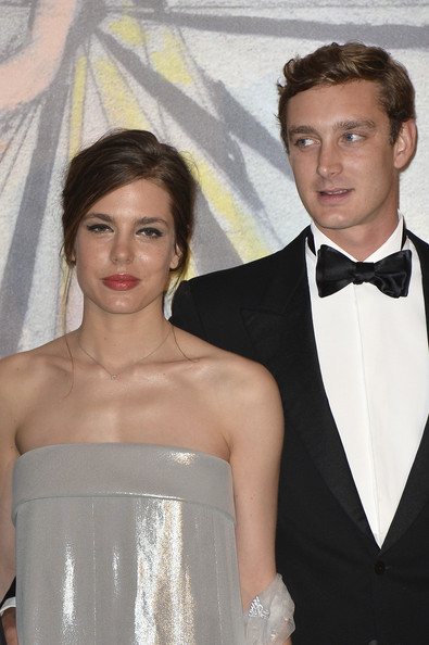 Charlotte Casiraghi and Pierre Casiraghi attend the Rose Ball 2014 in aid of the Princess Grace Foundation at Sporting Monte-Carlo on March 29, 2014 in Monte-Carlo, Monaco.