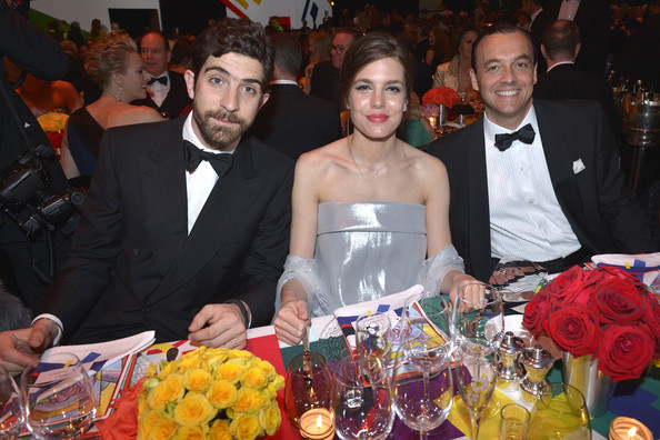 (VOICI, CLOSER, FRANCE DIMANCHE, ICI PARIS, ENTREVUE & PUBLIC OUT FOR FRANCE) (TABLOID OUT) Carlo Borromeo, Charlotte Casiraghi and guest attend the Rose Ball 2014 in aid of the Princess Grace Foundation at Sporting Monte-Carlo on March 29, 2014 in Monte-Carlo, Monaco.