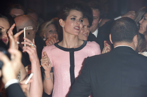 (TABLOIDS OUT) Charlotte Casiraghi attends the Rose Ball 2015 in aid of the Princess Grace Foundation at Sporting Monte-Carlo on March 28, 2015 in Monte-Carlo, Monaco.