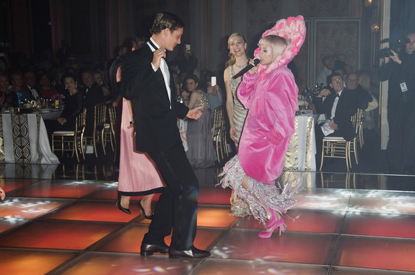 (L-R) Charlotte Casiraghi, Beatrice Borromeo, Pierre Casiraghi and Lily Allen attend the Rose Ball 2015 in aid of the Princess Grace Foundation at Sporting Monte-Carlo on March 28, 2015 in Monte-Carlo, Monaco.