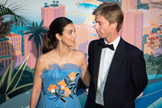 Alessandra de Osma and husband Christian of Hanover attend the Rose Ball 2019 on March 30, 2019 in Monaco.