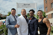 Ross Mathews, George Carrancho, Sean Franklin  and Wilson Cruz at D.C. Capital Pride Parade For Marriott International's #LoveTravels Campaign on June 13, 2015 in Washington, DC.