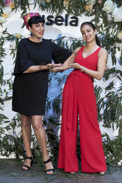 Rossy de Palma And Hiba Habouk Present 'Comment tu t'appelles' [comment,cinema,clothing,red,fashion,pink,lady,dress,formal wear,fashion design,event,photography,rossy de palma,hiba habouk present,actresses,hiba abouk,r,spanish,sala equis,l]