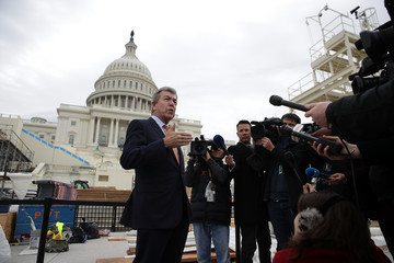 Roy Blunt Construction Continues on Inauguration Viewing Standing