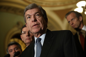 Roy Blunt Senate Legislators Speak to the Press After Their Weekly Policy Luncheons