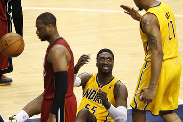 Roy Hibbert Miami Heat v Indiana Pacers - Game 1