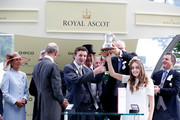 Prince Edward, Duke of Kent presenting the Duke of Edinburgh Stakes to trainer Thomas Kerr-Dinnen during Royal Ascot 2015 at Ascot racecourse on June 19, 2015 in Ascot, England.