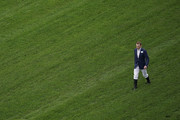 Jockey Ryan Moore walks the course before the first race on day one of Royal Ascot at Ascot Racecourse on June 18, 2019 in Ascot, England.