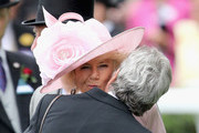Camilla, Duchess of Cornwall arrives in the parade ring at Royal Ascot 2016 at Ascot Racecourse on June 14, 2016 in Ascot, England.