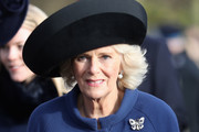 Camilla, Duchess of Cornwall attends a Christmas Day church service at Sandringham on December 25, 2016 in King's Lynn, England.