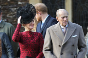 Sophie, Countess of Wessex (L) and Prince Philip, Duke of Edinburgh attend a Christmas Day church service at Sandringham on December 25, 2016 in King's Lynn, England.