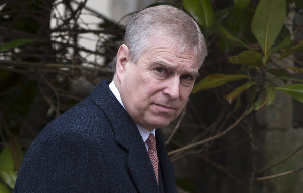 Prince Andrew, Duke of York leaves the Easter Sunday service at St George's Chapel at Windsor Castle on April 5, 2015 in Windsor, England.