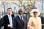 Former UN secretary-general Kofi Annan attends the Commonwealth Observance Day Service on March 14, 2016 in London, United Kingdom. The service is the largest annual inter-faith gathering in the United Kingdom and will celebrate the Queen's 90th birthday. Kofi Annan and Ellie Goulding will take part in the service.