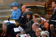 Queen Elizabeth II, Prince Philip, Duke of Edinburgh, Prince William, Duke of Cambridge, Catherine, Duchess of Cambridge and Prince Harry attend the annual Commonwealth Day service on Commonwealth Day on March 14, 2016 in Westminster Abbey, London. The service is the largest annual inter-faith gathering in the UK.