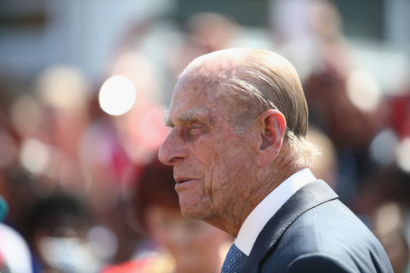 Prince Phillip, Duke of Edinburgh visits the Athletes Village during the Commonwealth games on July 24, 2014 in Glasgow, Scotland.