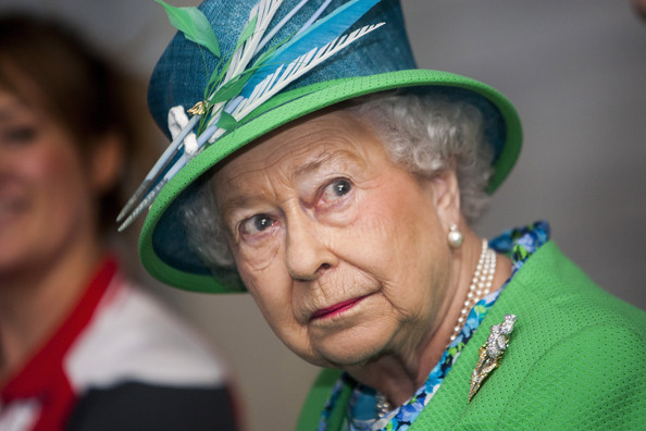 Queen Elizabeth II visits the Tollcross International Swimming Centre during day one of the 20th Commonwealth Games on July 24, 2014 in Glasgow, Scotland.