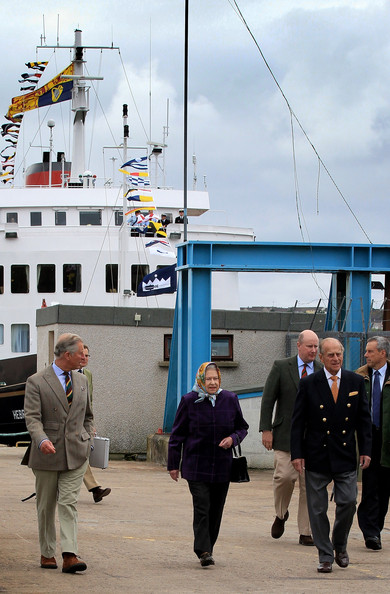 The Royal Family Disembark The Hebridean Princess