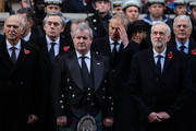 (R-L) John Major, Labour leader Jeremy Corbyn, Tony Blair, Ian Blackford, Gordon Brown, and Vince Cable attend the annual Remembrance Sunday memorial on November 12, 2017 in London, England.  The Prince of Wales, senior politicians, including the British Prime Minister and representatives from the armed forces pay tribute to those who have suffered or died at war.