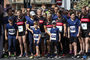 Crown Prince Mary of Denmark (L-3rd) with her children are ready to start in the running event Royal Run on the occasion of the 50th birthday of Crown Prince Frederik on May 21, 2018 in Copenhagen, Denmark. The Royal Run takes place in the cities Aalborg, Aarhus, Esbjerg, Odense and Copenhagen and more than 70.000 people are expected to participate during the day long sports event. The Crown Prince himself will run in all five cities.The last city of the day is Copenhagen, where he will run together with some 40.000 people.