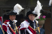Prince William, Duke of Cambridge (L) and Prince Andrew, Duke of York attend the annual Order of the Garter Service at St George's Chapel, Windsor Castle on June 13, 2011 in Windsor, England. The Order of the Garter is the senior and oldest British Order of Chivalry, founded by Edward III in 1348. Membership in the order is limited to the sovereign, the Prince of Wales, and no more than twenty-four members.