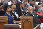 (L-R) Actors Phylicia Rashad, Kim Fields, and former Mayor of New York City David Dinkins attend the Ruby Dee Memorial Service at Assembly Hall of the Riverside Church on September 20, 2014 in New York City.