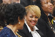 Actors Phylicia Rashad (L) and Kim Fields attends the Ruby Dee Memorial Service at Assembly Hall of the Riverside Church on September 20, 2014 in New York City.