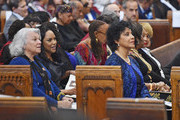 (L-R) Actors Tyne Daly, Lynn Whitfield, Phylicia Rashad and Kim Fields attend the Ruby Dee Memorial Service at Assembly Hall of the Riverside Church on September 20, 2014 in New York City.