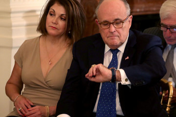 Rudolph Giuliani Trump Announces His Nominee To Succeed Anthony Kennedy On US Supreme Court