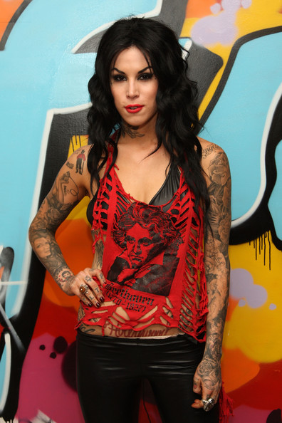 "Kat Von D Tattoo artist and TV personality Kat Von D visits fuse's ""No."