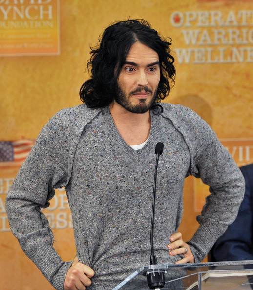 Russell Brand Actor/comedian Russell Brand attends The David Lynch Foundation's Operation Warrior Wellness launch press conference at the Paley Center For Media on December 13, 2010 in New York City.