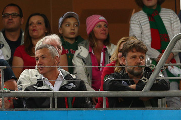 Russell Crowe Rabbitohs v Sea Eagles