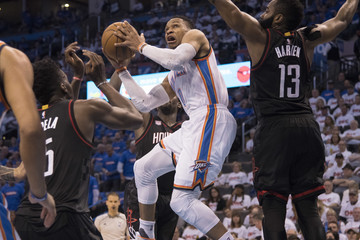 Russell Westbrook Houston Rockets v Oklahoma City Thunder - Game Three