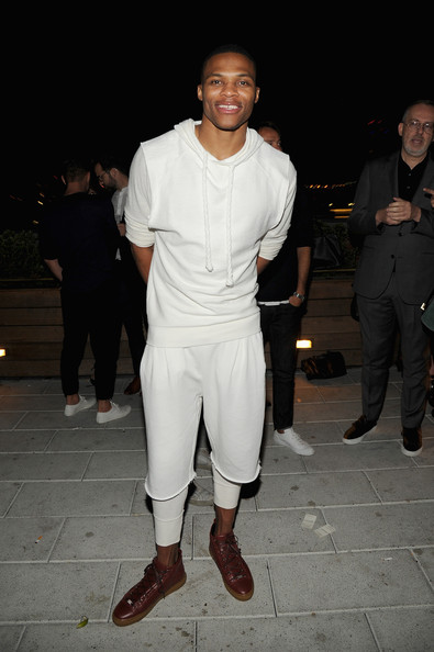 russell westbrook photos photos gq fashion week party at