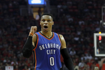 Russell Westbrook Oklahoma City Thunder v Houston Rockets - Game Two