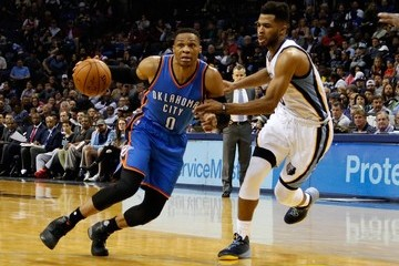 Russell Westbrook Oklahoma City Thunder v Memphis Grizzlies
