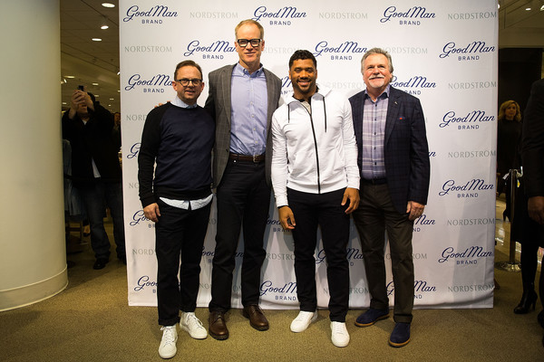Russell Wilson Launches Good Man Brand at Nordstrom [photo,event,brand,pete nordstrom,russell wilson,seattle,washington,nordstrom,russell wilson launches good man brand,seattle seahawks]