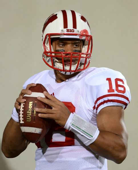 reputable site d114c f49d7 Russell Wilson Photos Photos - Wisconsin v Michigan State ...
