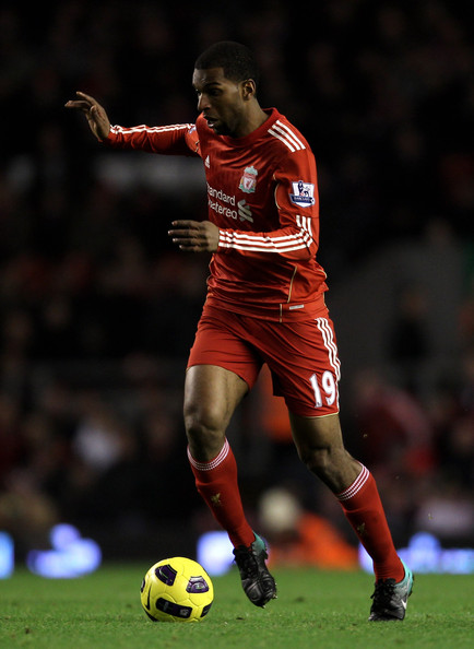 Ryan Babel Ryan Babel of Liverpool in action during the Barclays Premier League match between Liverpool and West Ham United at Anfield on November 20, 2010 in Liverpool, England.