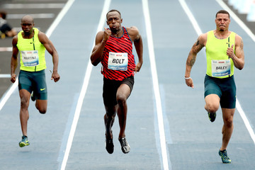 Ryan Bailey Mano a Mano Athletics Challenge with Usain Bolt