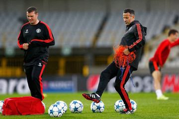 Ryan Giggs Manchester United Training and Press Conference